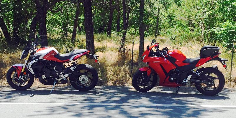 returning to motorcycling on a honda cbr300 sportbike mv augusta