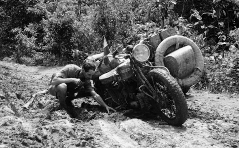 honeymooning by motorcycle 1934 bsa motorcycle mud