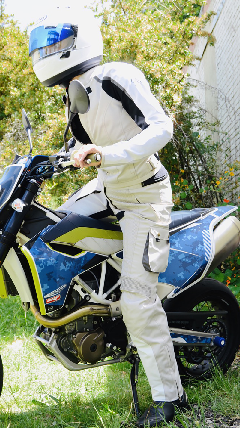 protective womens apparel raven rova falcon silver textile