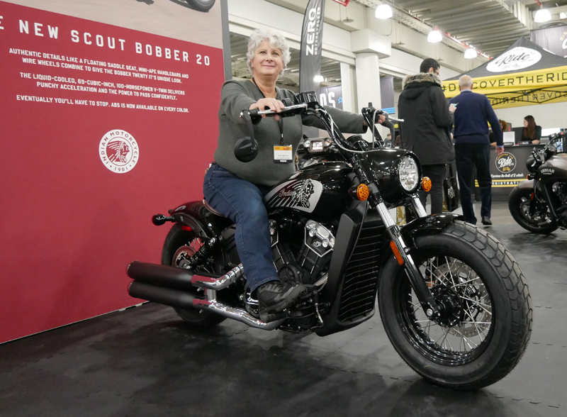 Progressive International Motorcycle Show Long Beach Indian Scout Bobber