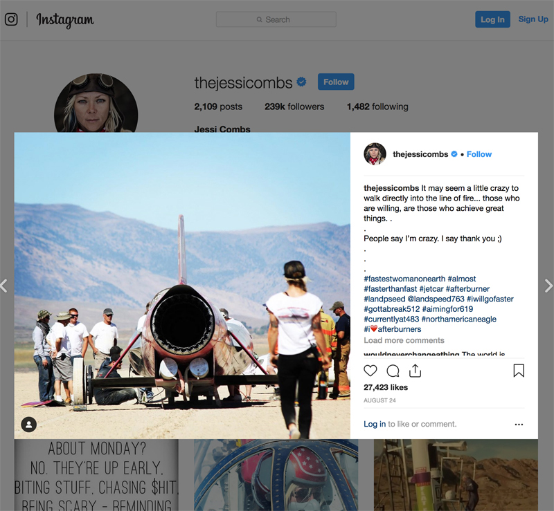 Jessi Combs: Reflections on the Life of the Powersports Superstar_Instagram