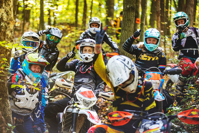 over and out moto womens off road event training
