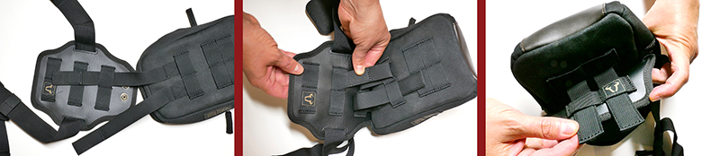 Lightweight bags that strap securely to your leg for on and off the bike sw-motech legend gear molle