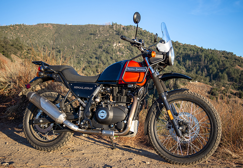 review royal enfield himalayan dual-sport red right