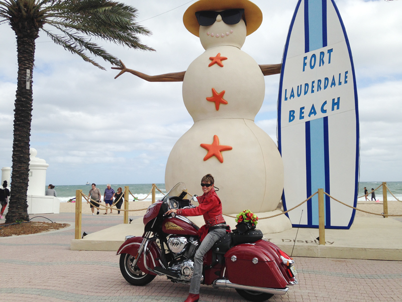 From Harley Chick to Indian Motorcycle Chieftain Rider attention