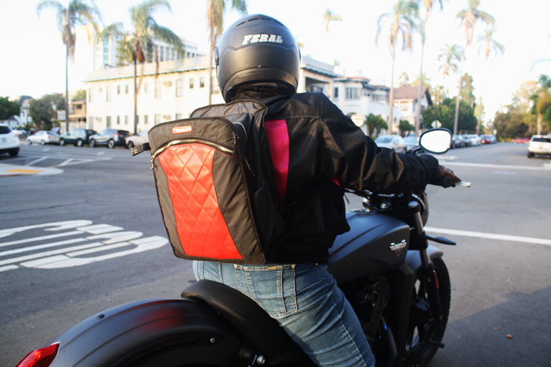 review lauren bag by motochic riding