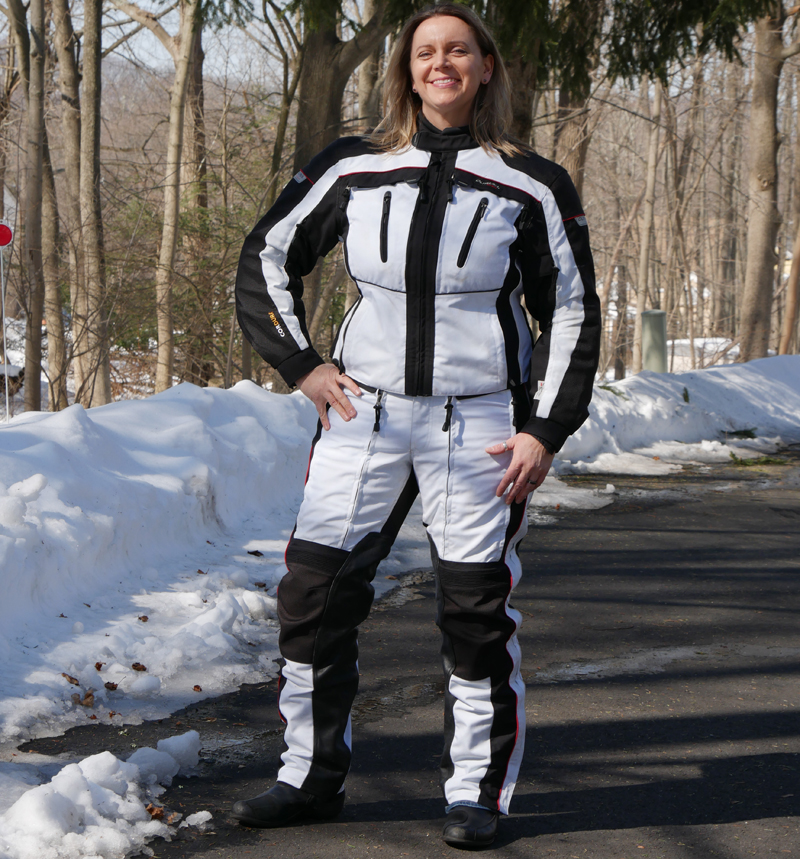 affordable techncial 4 season motorcycle riding suit expedition woman