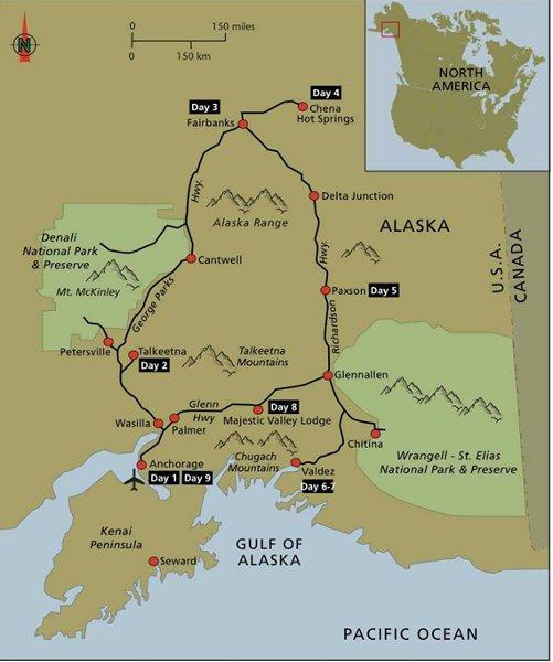 Womens Tour Alaska Map