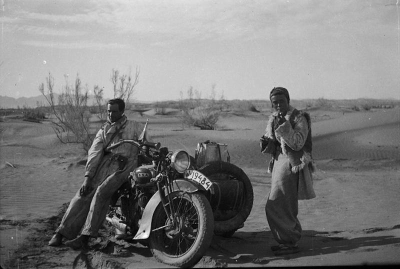 honeymooning by motorcycle 1934 desert