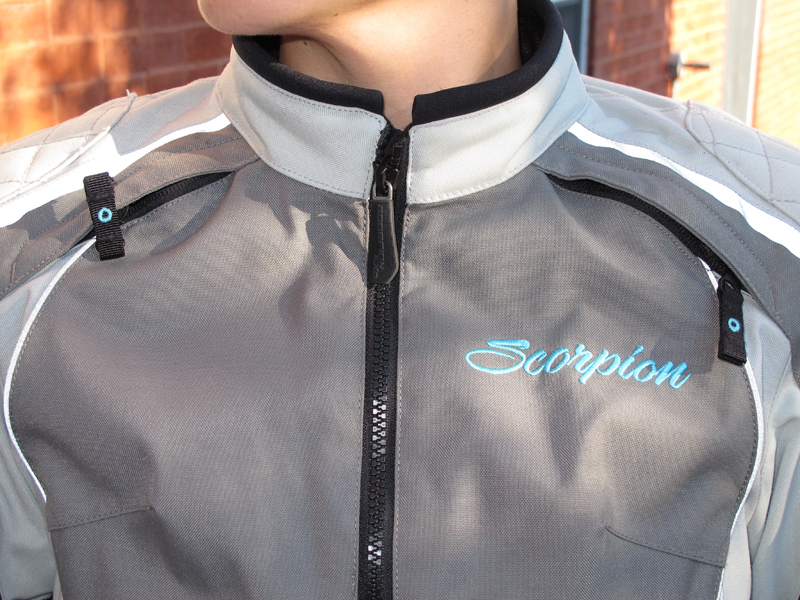 review three season textile jacket from scorpion breast vents
