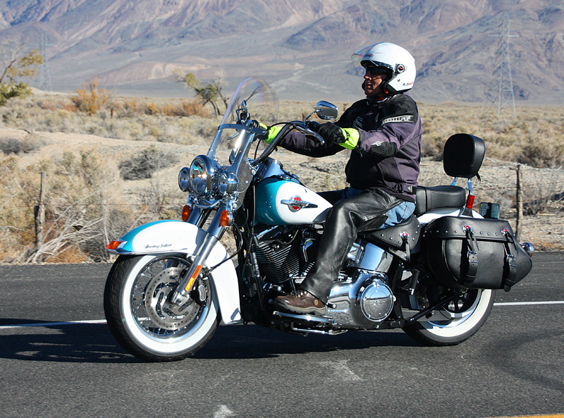 review 2016 harley davidson heritage softail classic man riding