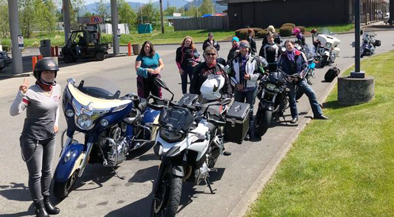 Meeting Her Next Husband Leads to a Love of Riding Motorcycles Group Ride