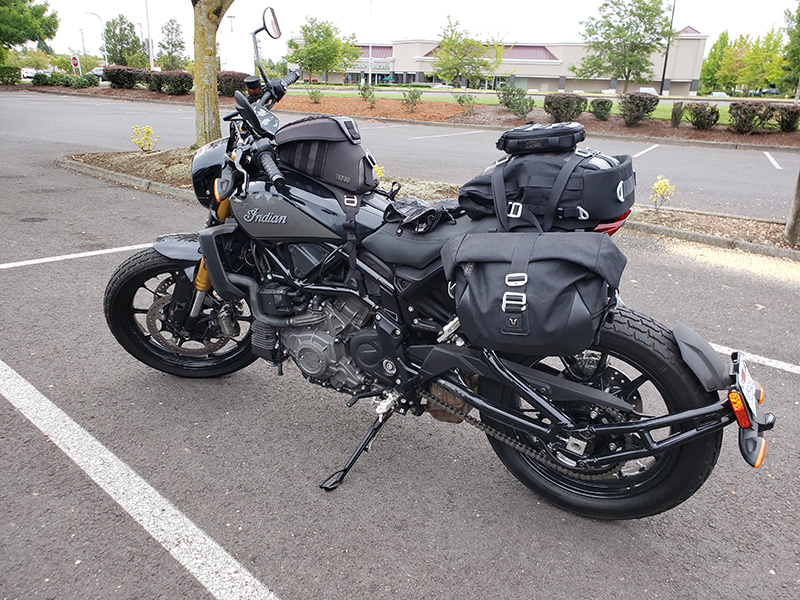 new bike review indian motorcycle ftr 1200 s v-twin roadster sw-motech bags