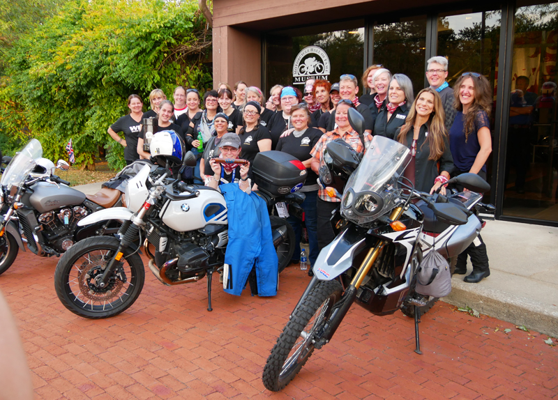Women Riders World Relay WRWR Hits American Road AMA Hall of Fame Museum