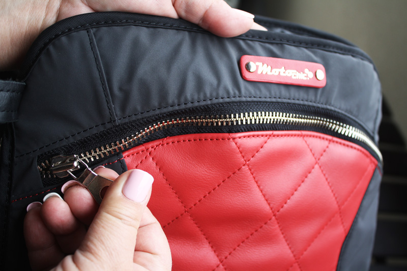 review lauren bag by motochic quilted panel