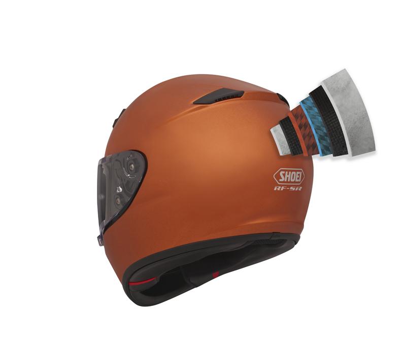 shoei rf-sr entry-level motorcycle helmet shell