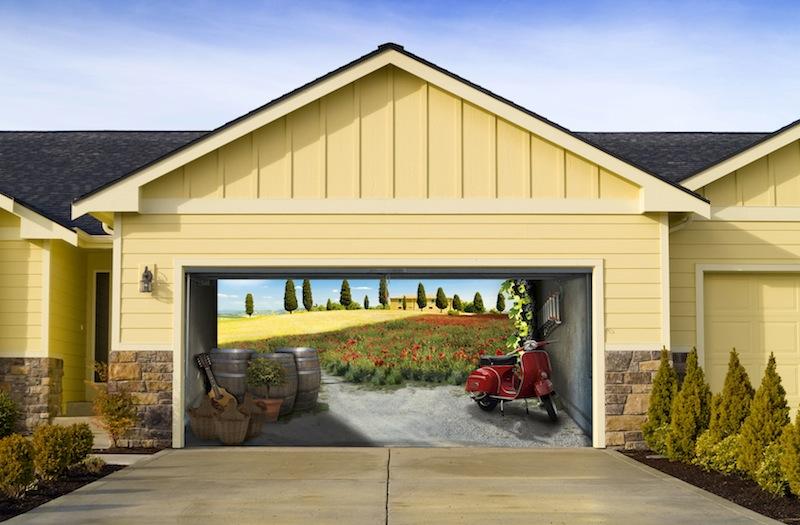 Italian Garage Mural