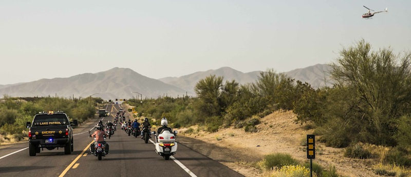 International Female Ride Day Police Escort
