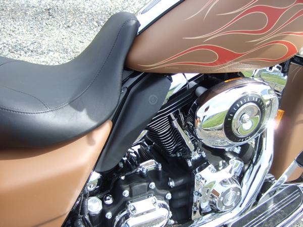 Customizing a Harley-Davidson Street Glide Heat Deflector Black