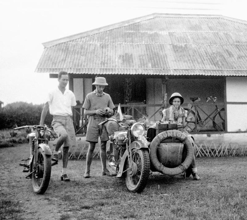 honeymooning by motorcycle 1934 asia india