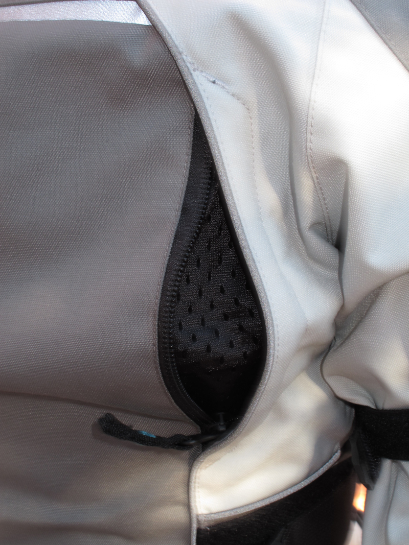 review three season textile jacket from scorpion back vent