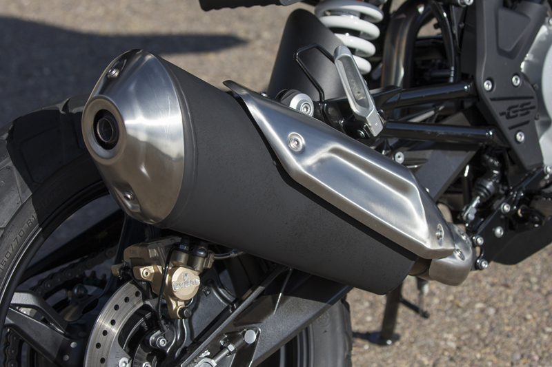 review bmw g 310 gs entry level dual sport exhaust