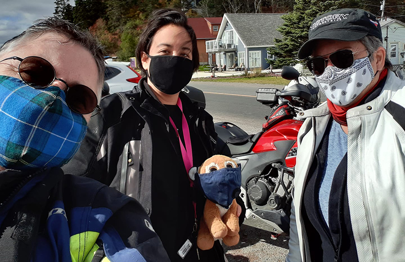 motorcycling safely in a pandemic carla king masked women riders