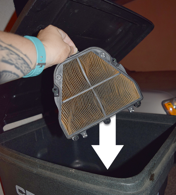 how to maintain your air filter trash filter