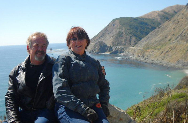 find love on a motorcycle one honda at a time big sur