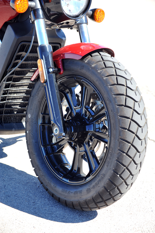 review 2018 indian scout bobber tire