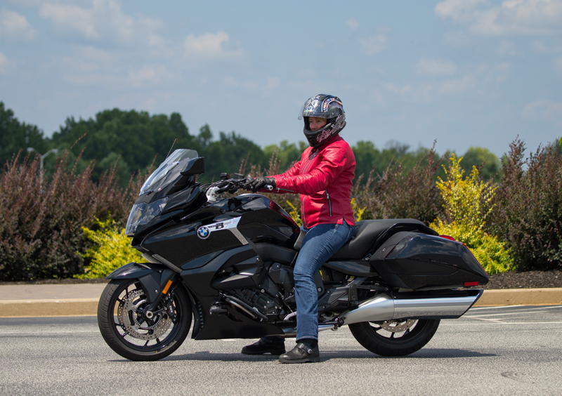 review 2018 bmw k 1600 b a bagger with innovative features seat height
