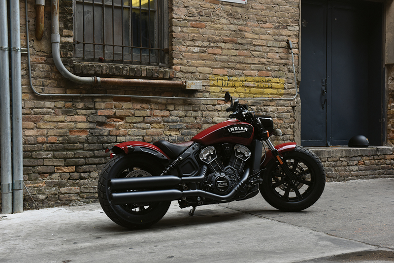 less is more indian scout bobber red black