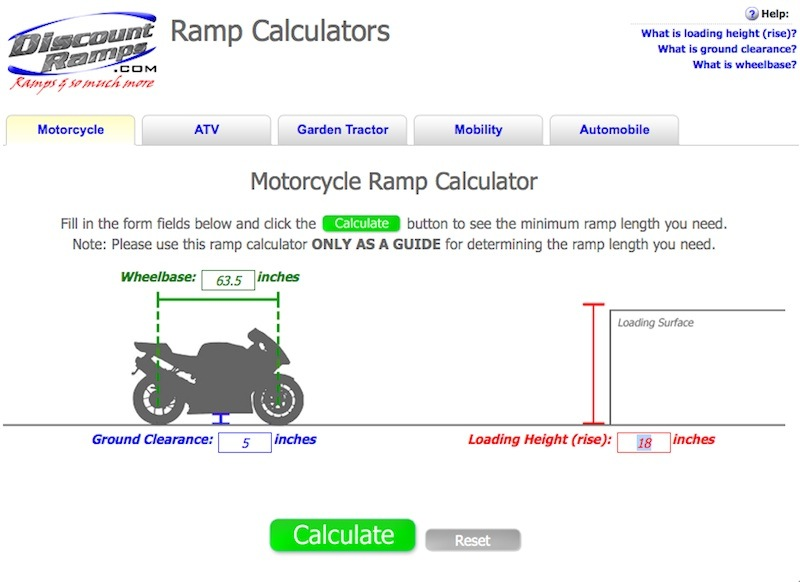Best Motorcycle Trailer Loading Ramp Review Calculator