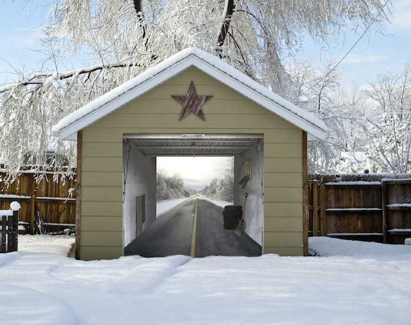 Winter Garage Mural