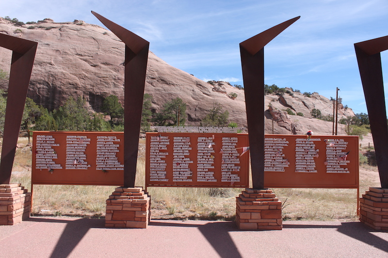 Backroads with Betsy Riding the Rez Navajo World War II memorial