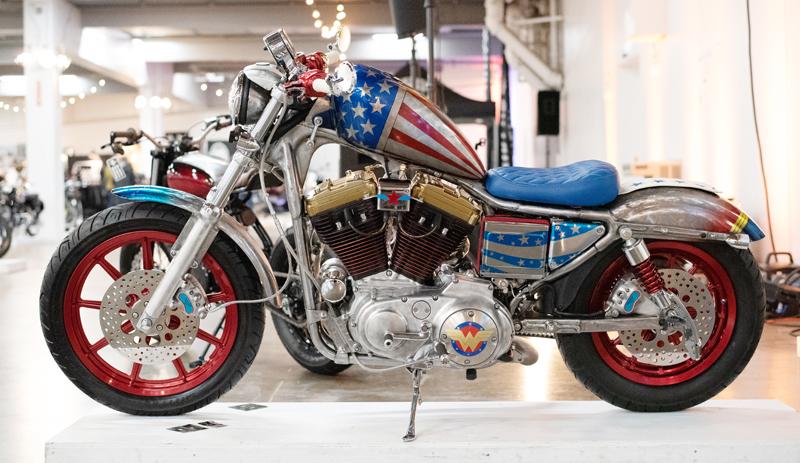 top women motorcycle builders lea holmes wonder woman sportster