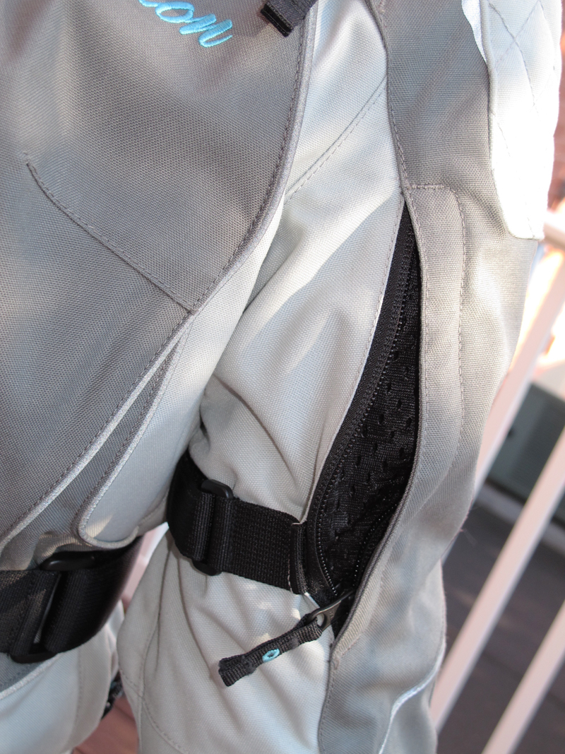 review three season textile jacket from scorpion bicep vent