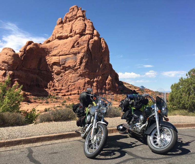 lessons learned motorcycle touring with your best riding partner arches national park
