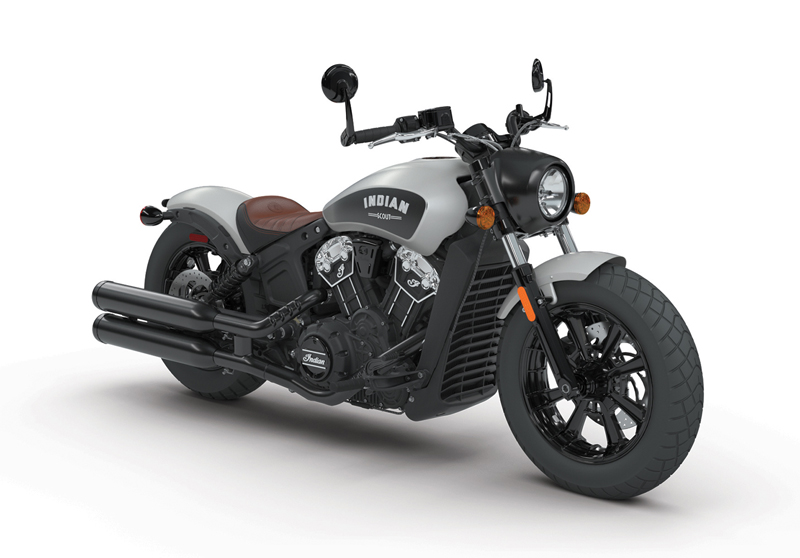 less is more indian scout bobber star silver smoke