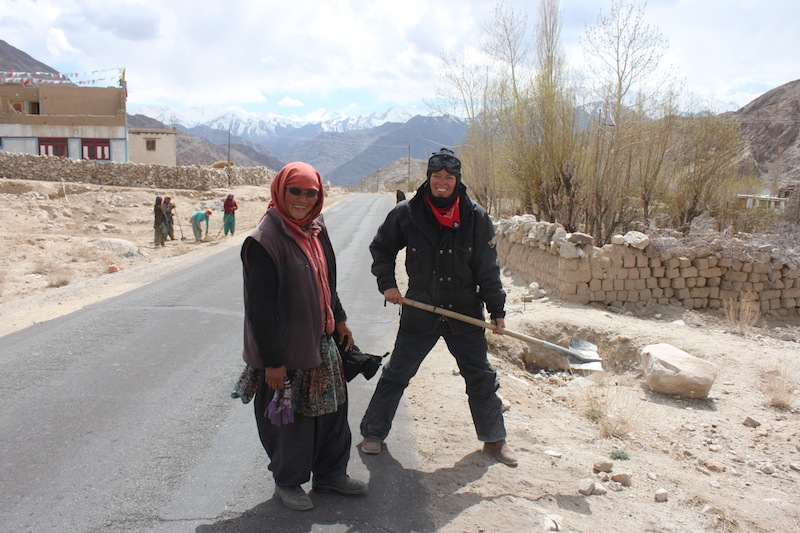 Backroads with Betsy Motorcycling in the Himalayas road maintenance