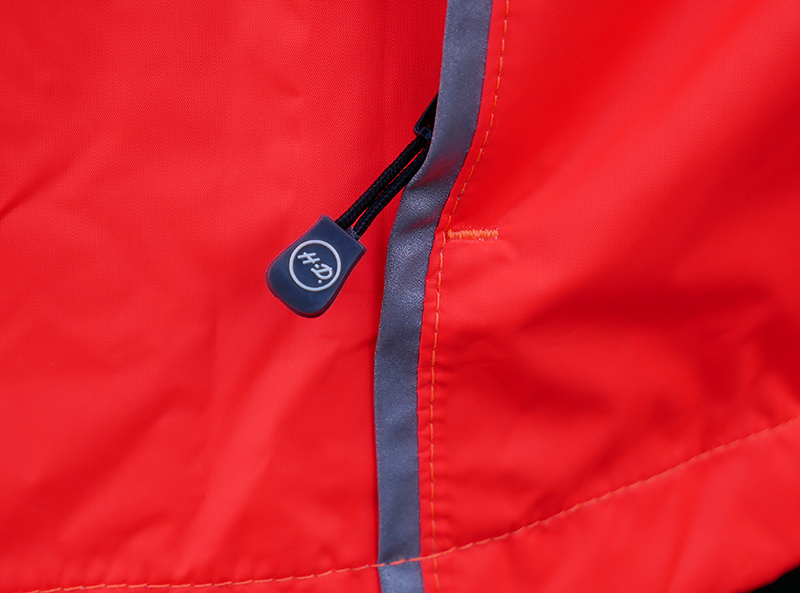 harley-davidson womens hi-vis rain suit orange reflective gear zipper pull