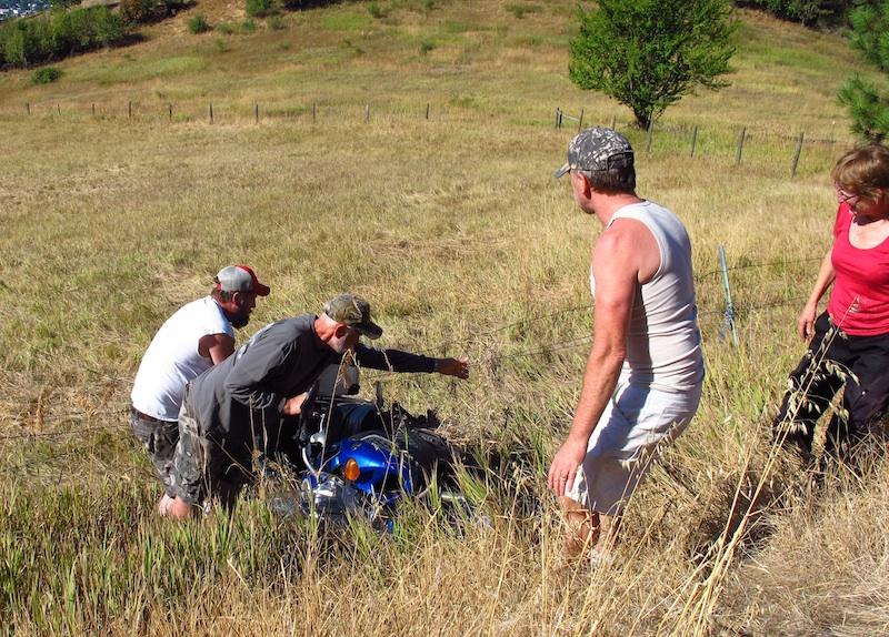 Safe Riding Motorcycle Mishap men motorcycle mountainside