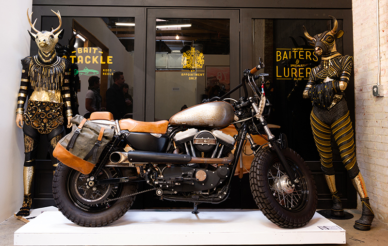 moto lady alicia elfving womens motorcycle show art custom bikes scrambler