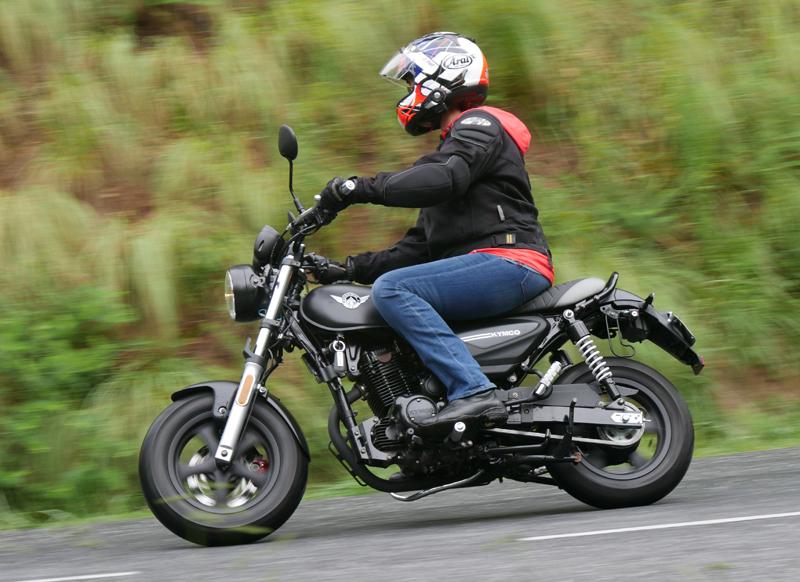 kymco spade 150 small motorcycles big fun riding left