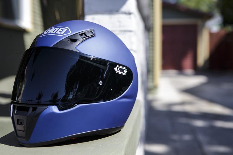 shoei rf-sr entry-level motorcycle helmet blue