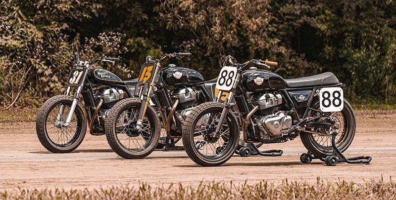 royal_enfield women riders build train race custom flat track racer motorcycles