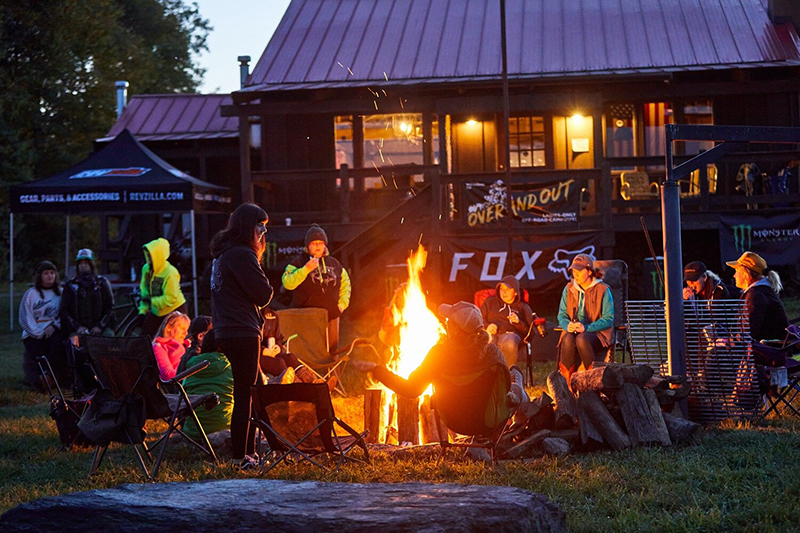 over and out moto women's off road event dirt bikes campfire