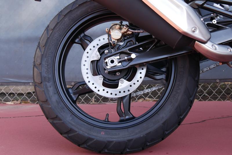 review bmw g 310 gs entry level dual sport rear brake