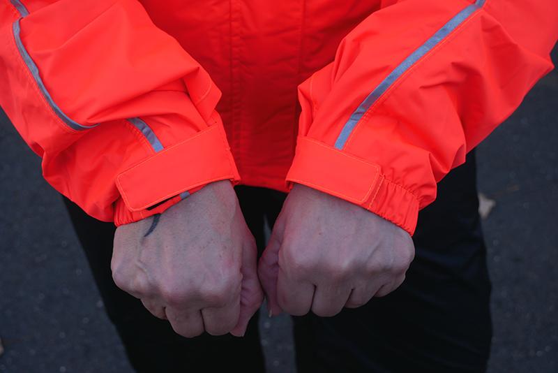 harley-davidson womens hi-vis rain suit orange reflective gear cuffs