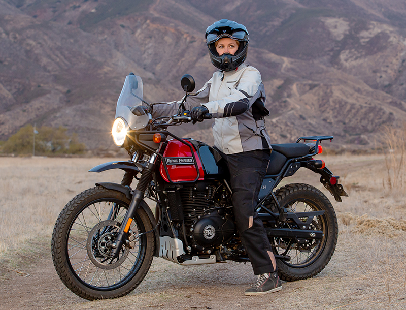 review royal enfield himalayan dual-sport jean turner seat height